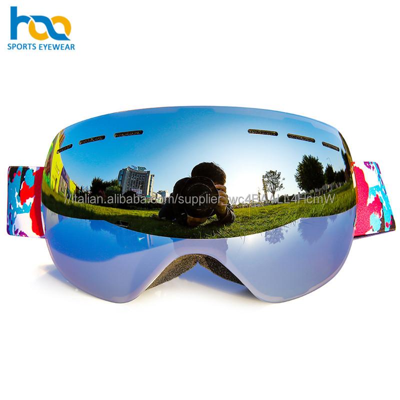Professionali personalizzati vendita calda sci neve accessori full hd specchio dex occhiali da sci