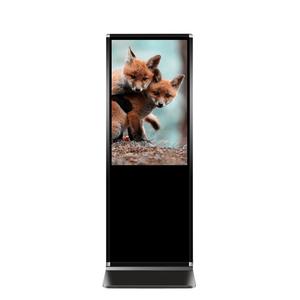 Full hd d'intérieur interactif hd kiosque debout libre de plancher de signalisation numérique à cadre ouvert lcd affichage publicitaire