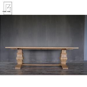 Hampton İtalyan barok tarzı meşe masa yemek, el oyma antika yemek masası ahşap