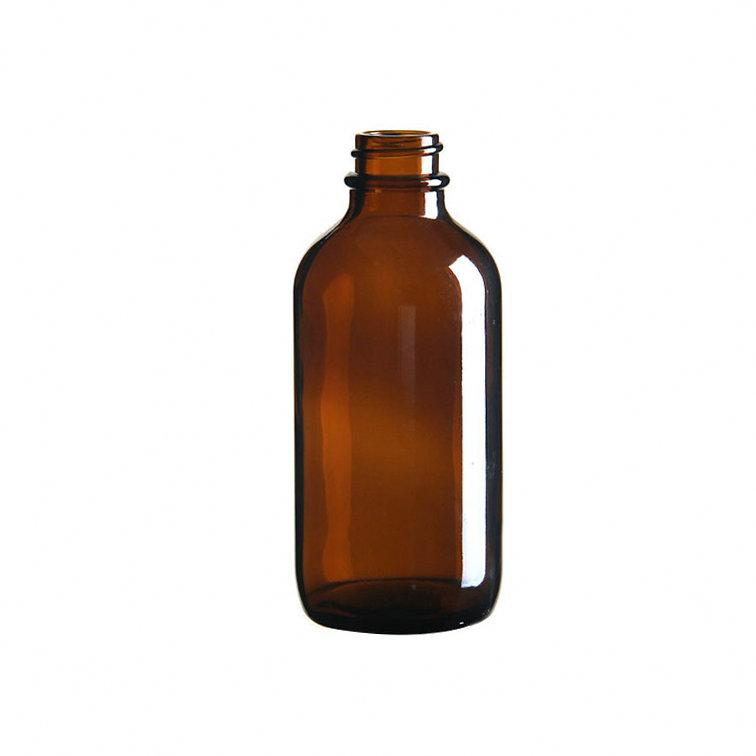 4 oz/120 مللي العنبر زجاجة مستديرة بالقطارة زجاجة