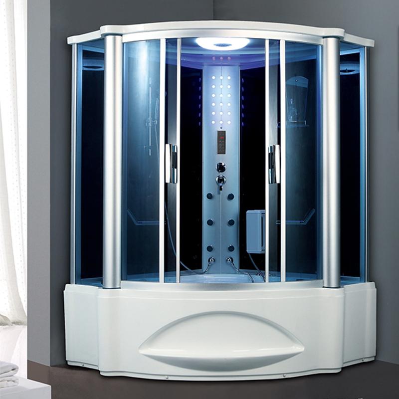 1,55 <span class=keywords><strong>m</strong></span> Longitud negro acrílico blanco vapor diseño duchas y baños