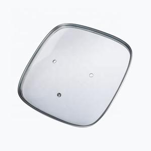 Cuadrado Rectangular de vidrio templado ollas tapa para utensilios de cocina