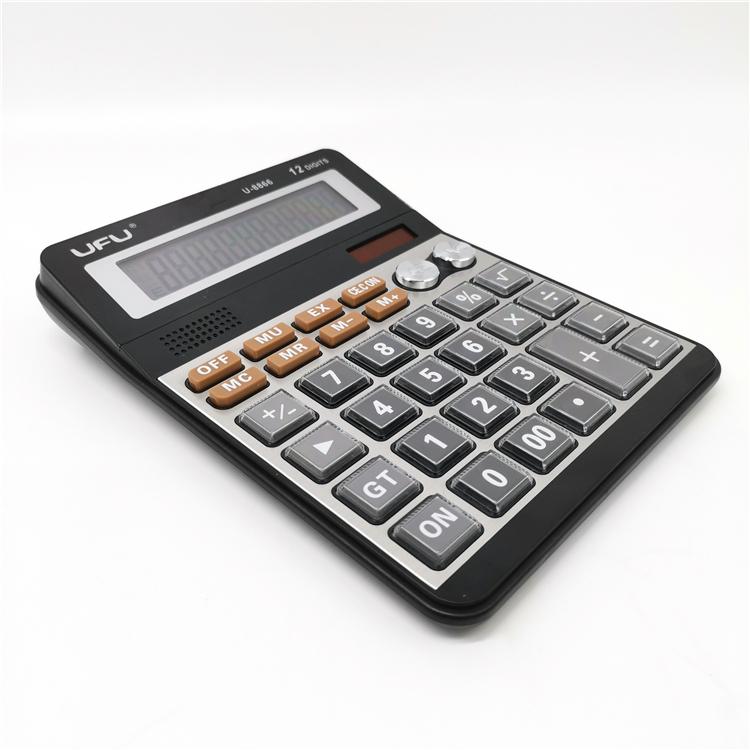 U-8866 12 桁オフィスデスクトップ電子安い薄型電卓販売のため