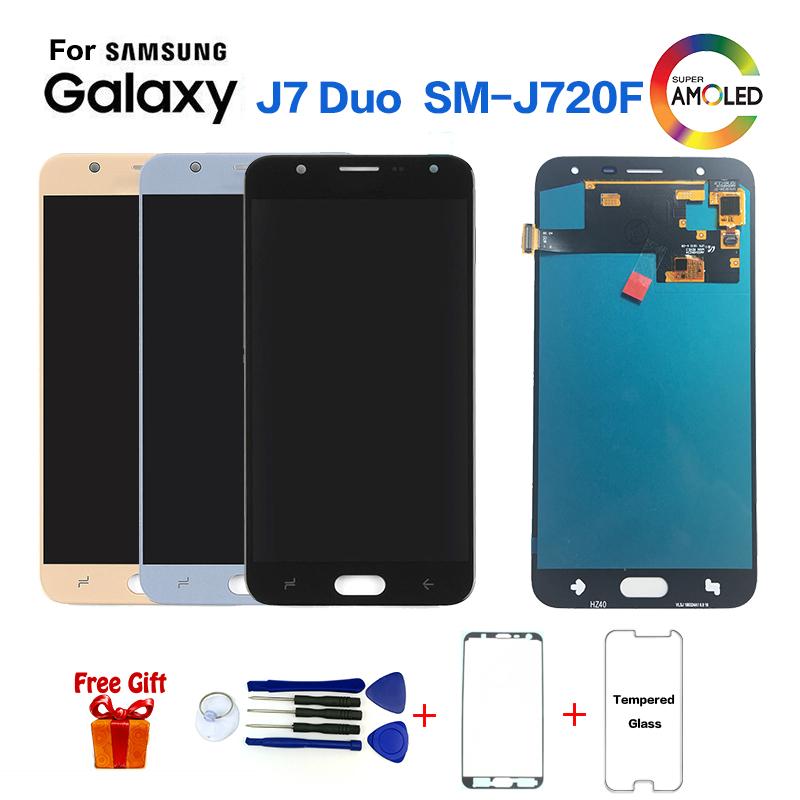 Del Telefono Mobile Schermo LCD di Ricambio Per Samsung Galaxy J7 DUO J720F LCD