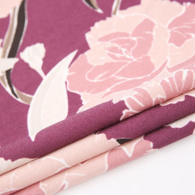 Neue design blume drucken nach restposten hemd scuba crepe leinen stoff stricken stoff