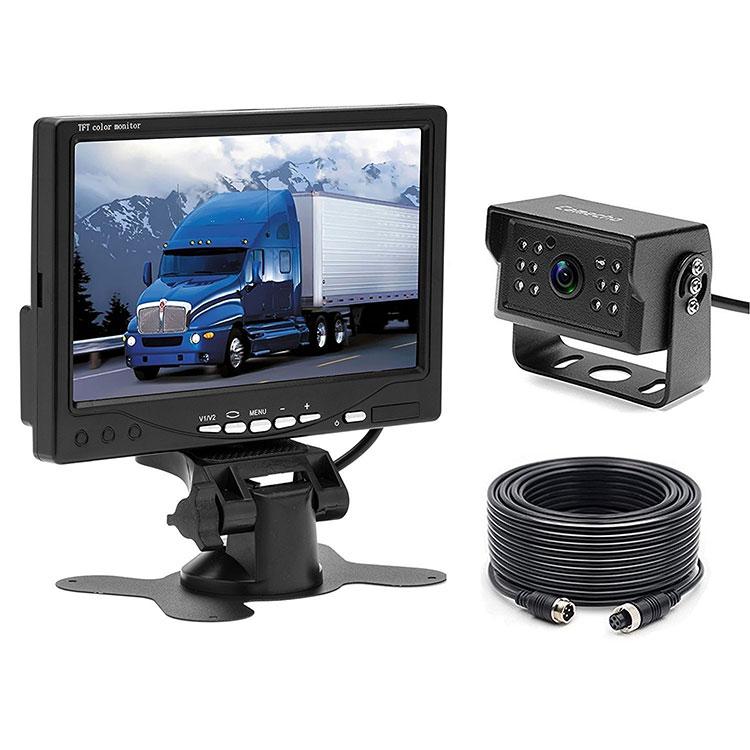 12 V-24 V Auto Verdrahtete 7 zoll TFT LCD Monitor Backup Kamera Kit Parkplatz System