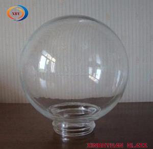 شفافة لولبية زجاج غلوب ظلال الجملة واضحة برغي زجاج الظل كروية كروية عاكس