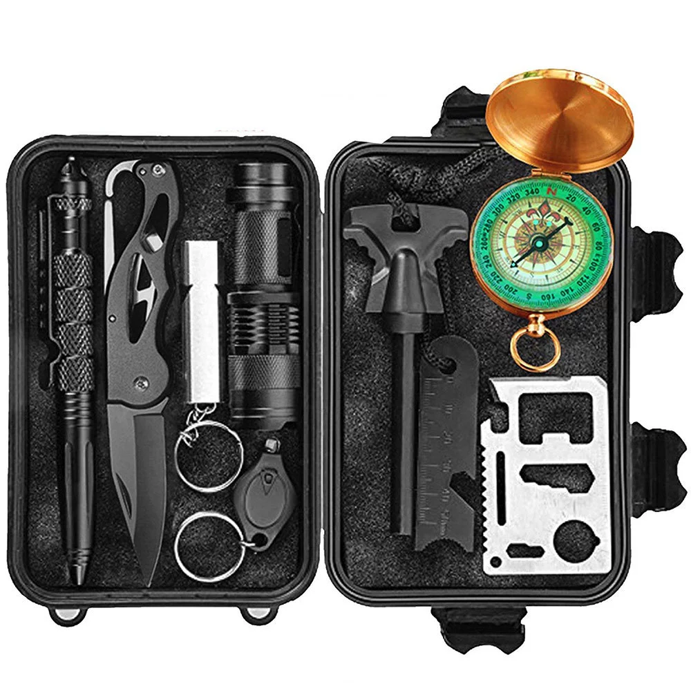 De Emergencia Kits de supervivencia 13-En-1. multi herramientas profesionales al aire libre equipo Kit de viaje/senderismo