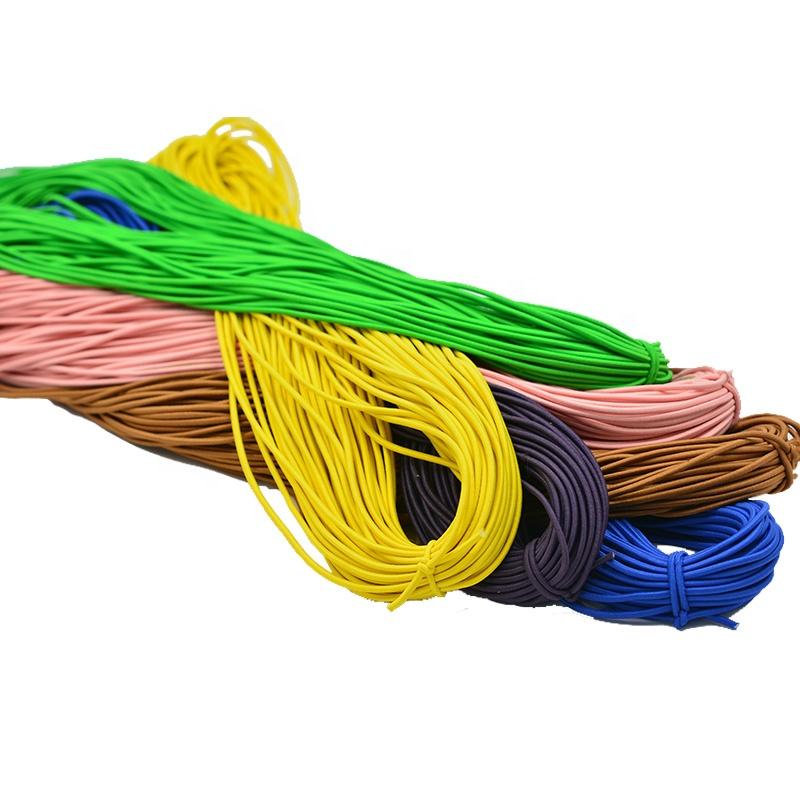 più poco costoso impermeabile fatti a mano in oro rotonda esercizio string 0.8-10mm cavo di gomma elastica della corda