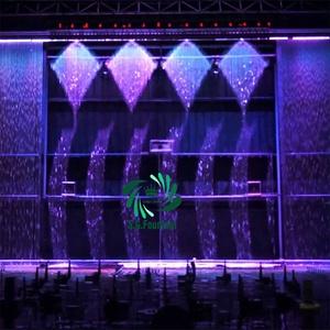 Новый стиль водная печать водопад фонтан завод Графический цифровой водяной занавес со светодиодной подсветкой