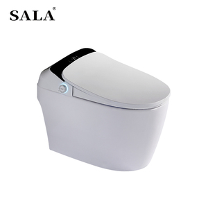 SALA Brand Wholesale China SA818A With Radar and Foot Sensor Automatic Operate Smart Sensor Flush Sitting WC Toilet Bowl