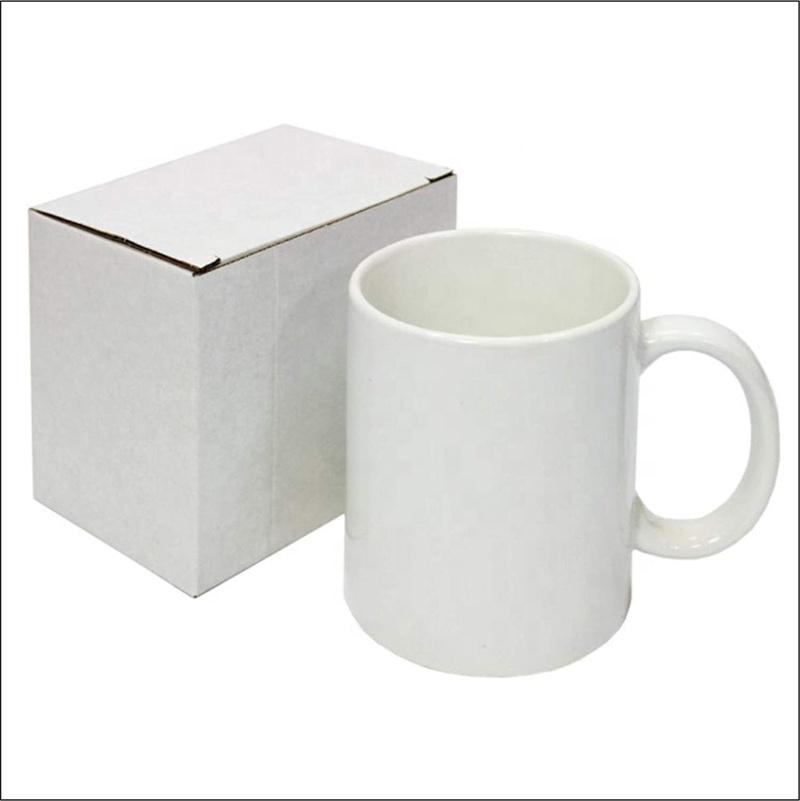 Özel Promosyon Porselen Seramik Bir Dolar Mağaza Öğeleri Beyaz Kupa Seramik
