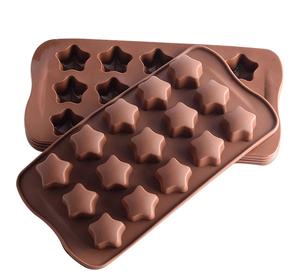 Non-stick 15 Cavités Belle Étoile Bonbons Moules Silicone Moule à Chocolat