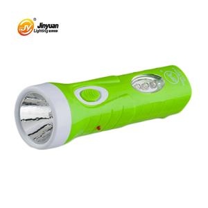 Аварийное освещение Портативный перезаряжаемый светодиодный фонарик Ручной фонарь с пластиковым корпусом