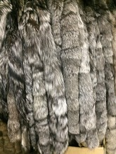 Silver,Black,dyed (colors) Fox Fur Trimming,