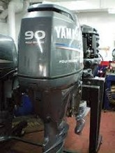 Used Yamaha 90HP 4-Stroke Outboard Motor Engine