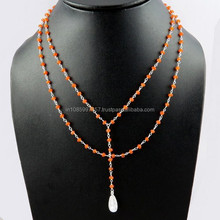 Artisan !! Carnelian 925 Sterling Silver Necklace, Silver Jewelry Wholesaler, Indian Silver Jewelry