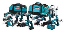 BUY 2 GET 1 FREE Makita 18 Volt 15 Pc Piece Cordless Lithium Ion Combo Tool Kit Saw Grinder Drill