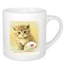 2.5oz mug with cute cat or dog image