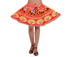 Moda elegante diseño modest mujeres modelo floral mini falda