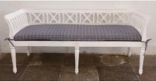 Gustavian cross wooden sofa