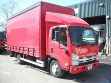 Used Isuzu N75.190 Curtain Side Truck - Right Hand Drive - Stock no: 12066