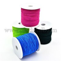 Round Elastic Cord for Stretch Hair Ties Making, Mixed Color, 0.8mm; about 80m/roll