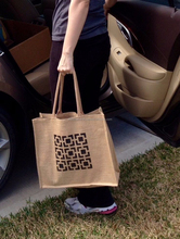 TS059, LiveGreen, jute bag with zipper