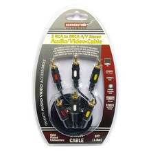 3 RCA to RCA Stereo Audio/Video Cable #HD313