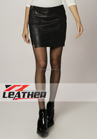 2015 Women's Fashion Sexy Tight Punk High Waist Rivet Synthetic Leather Skirt