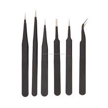 black pointed eyelash tweezers pointed curved straight eyebrow tweezers