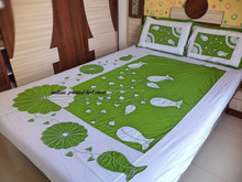 Wholesale cotton printing duvet cover set /quilt cover and bed sheet