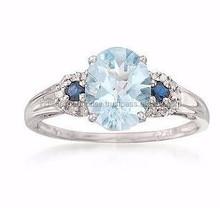 wedding engagement gemstone fashion finger 925 sterling silver ring/Hot sale gemstone ring/
