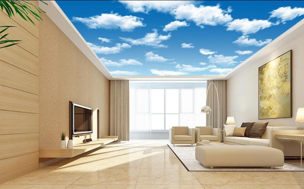 ciel nuage papier peint au plafond pvc 3d effet plafond. Black Bedroom Furniture Sets. Home Design Ideas