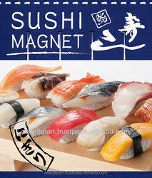 Sushi refrigerator magnet a real size sushi tuna shrimp scallop