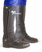 Easy Care Black Leather Mini Chaps For Adults & Kids