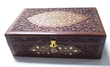 """WOODEN JEWELRY BOX CARVING DESIGN (12""""X 8""""X 4"""" )"""
