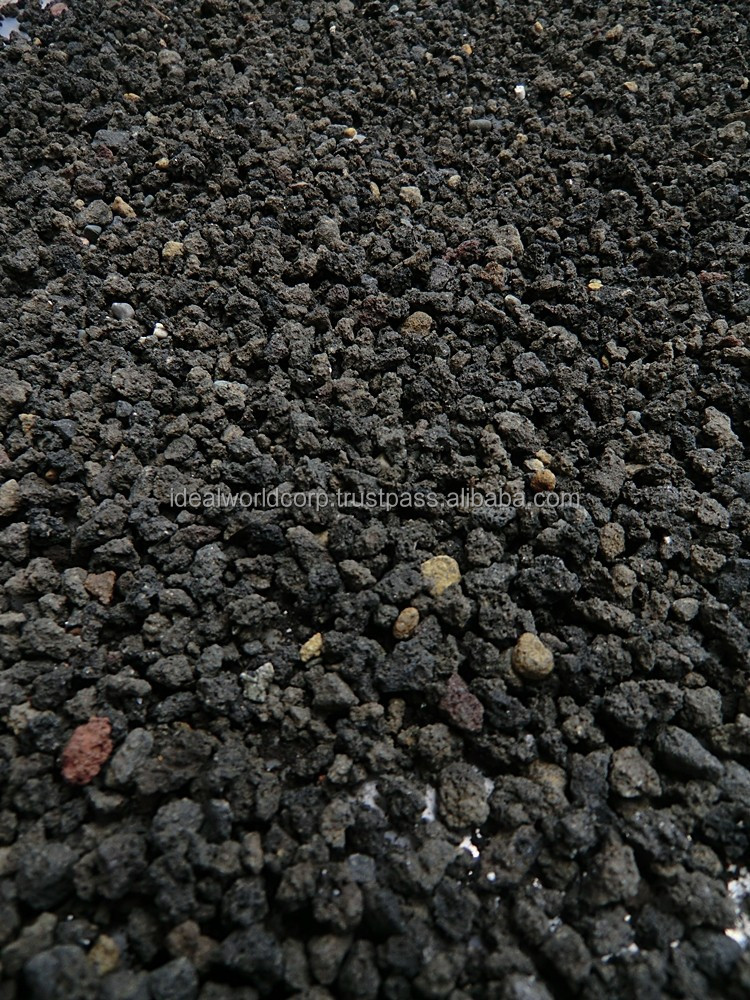 Black lava rock or black volcanic buy landscaping lava for Black granite landscape rock