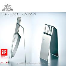 iF DESIGN AWARD TOJIRO ORIGAMI stylish shaped knife display stand Made in Japan