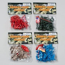 COMBAT ARMY 20PC PLAYSET FIGURES 4ASST COLORS IN POLYBAG #G16767