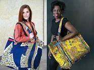 Ghana print fabric bags
