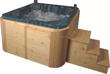 wooden mateial massage bathtub, Acrylic hot whirlpool bathtub ZAT-EV1625
