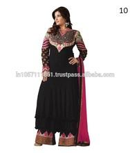 Diseños de cuello para las señoras traje de/paquistaníes largo de diseñador salwar kameez 2013