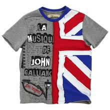 Custom logo printing 2015 kids wear boys cotton tshirt