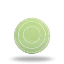ceramic green knob with white circles knob