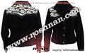 chaqueta negro mujeres de gamuza