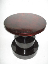 furniture handicraft traditional design dark red glossy color lacquer furniture