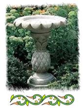 garden sandstone pedestal birdbath