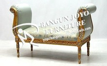 luxury pretty solid wood carving chaise lounge