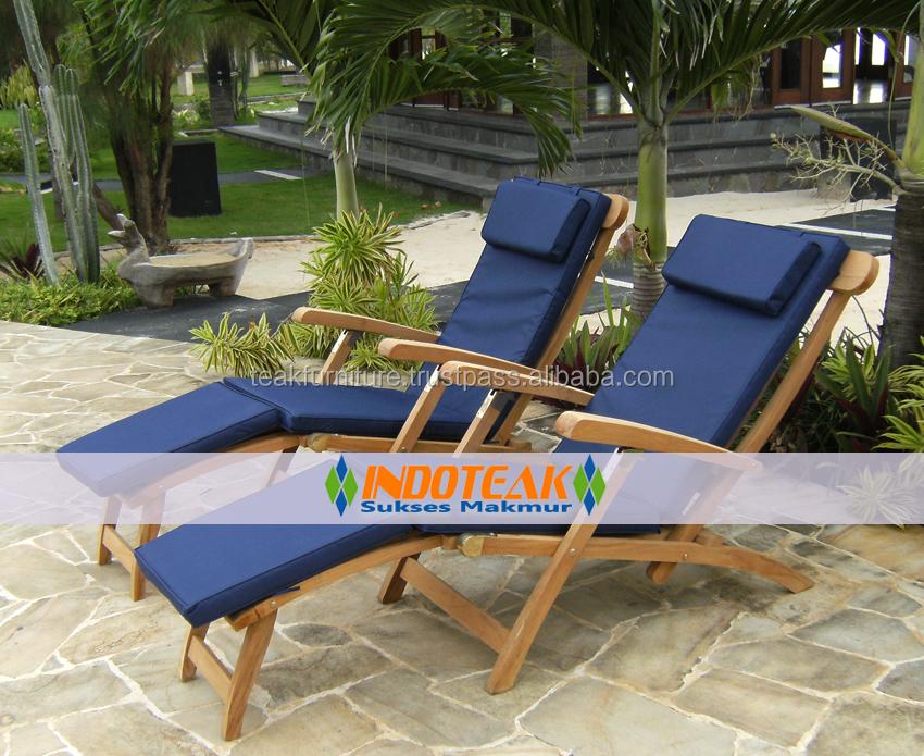 Patio Furniture Teak Chaises Lounges Sun Lounger Manufacturer Cushions